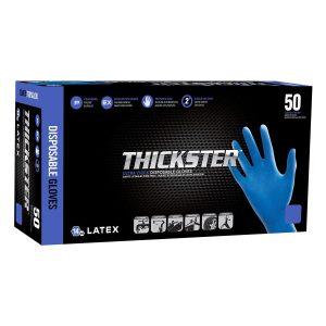 Thickster powder-free latex exam grade gloves